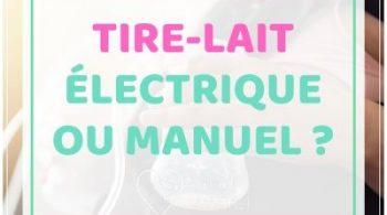 tire-lait électrique ou manuel