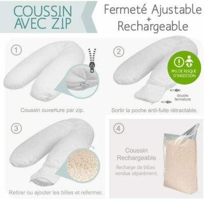 Coussin Modulit avec zip