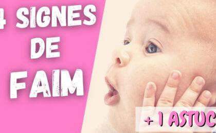 signes faim bébé