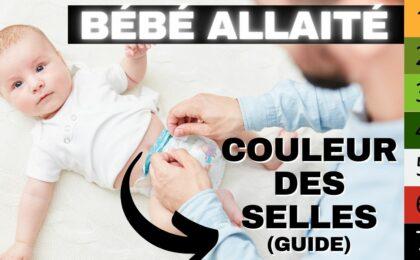 couleur selles bébé allaité